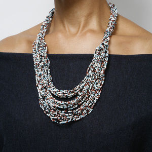 Jewelry - Handmade ethnic tribal multi beaded necklace